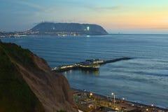 сумерк lima Перу береговой линии Стоковое Фото
