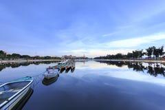 Сумерк Longzhouchi (бассейна шлюпки дракона), городок jimei, amoy город, фарфор Стоковая Фотография