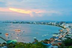 сумерк pattaya Таиланда залива Стоковая Фотография RF