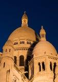 сумерк sacre купола coeur Стоковые Фотографии RF