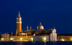 сумерк san maggiore giorgio базилики стоковая фотография