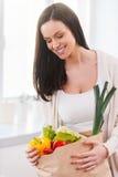 Сумка вполне здоровья и цветов Стоковые Фотографии RF