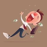 Сумка владением бизнесмена смещая на документ налога иллюстрация штока