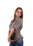 сумка девушки Стоковое Фото