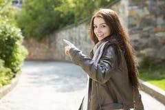 Сумка девочка-подростка Стоковая Фотография RF