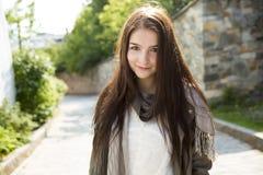 Сумка девочка-подростка Стоковое Фото