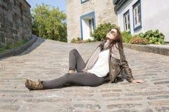 Сумка девочка-подростка Стоковые Фотографии RF