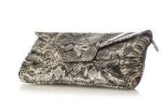 Сумка женщин змейки кожаная Стоковое Изображение