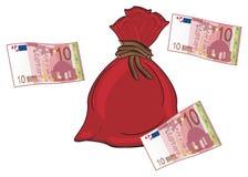 Сумка и евро бесплатная иллюстрация