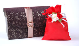 Сумка коробки подарка и подарка Стоковые Изображения