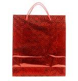 Сумка красного подарка бумажная с орнаментом. стоковые фото