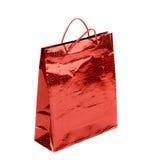 Сумка красного подарка бумажная. стоковая фотография