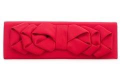 Сумка красного цвета женщины Стоковая Фотография RF