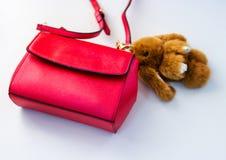 Сумка красного цвета ` s женщин Стоковые Фото