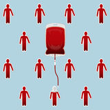 Сумка крови с людьми которые переливания крови Стоковое фото RF