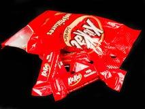 Сумка мини шоколадных батончиков Kat набора Стоковая Фотография