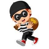 Сумка нося шаржа похитителя денег с знаком доллара бесплатная иллюстрация