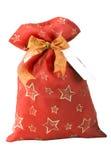 Сумка подарка красная с карточкой стоковое изображение
