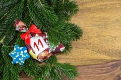 Сумка рождества и голубая звезда Стоковое Изображение RF
