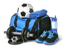 Сумка спорт с спортивным инвентарем Стоковое фото RF
