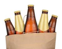 Сумка с коричневым пивом Стоковые Изображения RF
