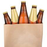 Сумка с коричневым пивом Стоковое фото RF