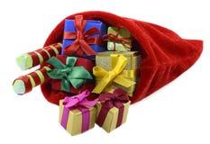Сумка Santas с подарками Стоковое Изображение RF