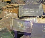Сумки жертв в Освенциме Стоковые Фото