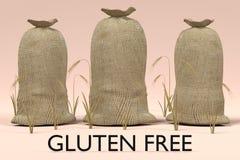 Сумки зерна с клейковиной освобождают знак Стоковые Фотографии RF