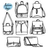 Сумки и рюкзаки Стоковое Фото