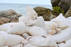 Сумки песка стоковые фотографии rf