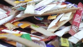 Сумки сахара в большой части сток-видео
