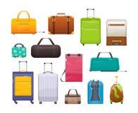 Сумки собрания различные, чемоданы, багаж Пластмасса, металл, кожаные чемоданы, сумки бесплатная иллюстрация