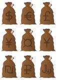 Сумки с деньгами иллюстрация вектора