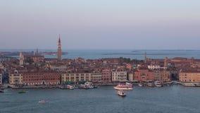 Сумрак в сентябре над Венецией r видеоматериал