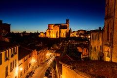 Сумрак в Сиене, Италии Стоковые Изображения
