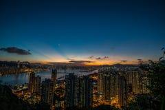 Сумрак Гонконга стоковые фото