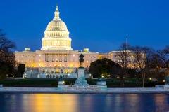 Сумрак здания капитолия США Стоковая Фотография