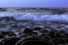Сумрак над морем Стоковое Изображение