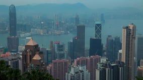 Сумрак над Гонконгом Промежуток времени 4K акции видеоматериалы