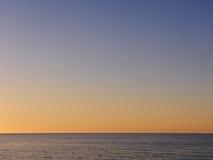 Сумрак над морем в Корсике Стоковые Фотографии RF