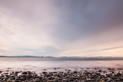 Сумрак на острове ванкувер Стоковые Изображения RF