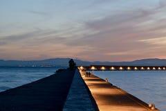 Сумрак над пристанью Стоковые Изображения RF