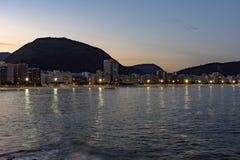 Сумрак на пляже Copacabana Стоковое Изображение RF