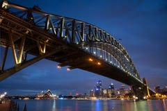 сумрак Luna Park моста стоковое изображение