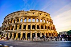 сумрак rome colosseum Стоковая Фотография