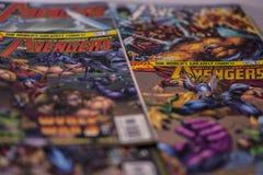Супергерои комиксов чуда мстителей стоковое изображение