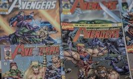 Супергерои комиксов чуда мстителей стоковая фотография