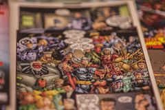 Супергерои комиксов чуда мстителей стоковые изображения