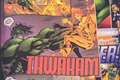 Супергерои комиксов чуда мстителей стоковое фото rf